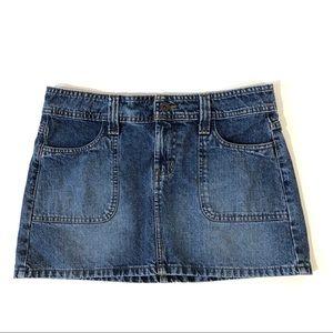 l.e.i. Denim Mini Skirt Medium Wash Size 5